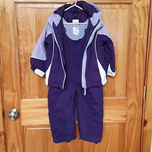 Girls Purple & White Snowsuit